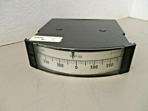 Westinghouse 13818 Opposing Range Rpm Panel Meter 250 0 250 Type Hx 252
