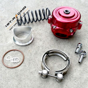 Red 50mm Blow Off Valve Aluminum Flange Stainless Steel V Band Clamp 35psi