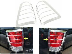 Chrome Trim Bezel Tail Light Cover Covers Fit 2004 2013 2014 2015 Nissan Titan