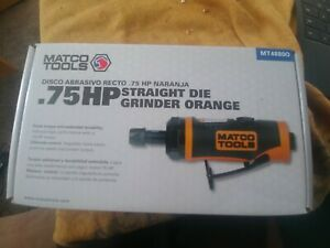 Matco Tools Mt4880o 3 4 Hp Straight Die Grinder In Orange New