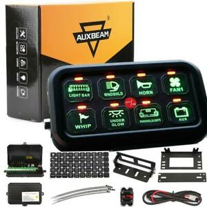 Auxbeam 8 Gang On off Led Car Switch Panel Circuit Control 12v 24 For Jeep Boat