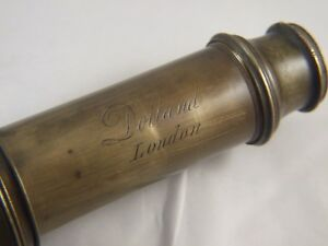 Genuine Antique Brass Telescope Dolland London 4 Drawer Refractor C 1800 S