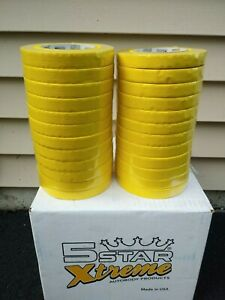 Automotive Masking Tape Five Star Half Case 3 4 X 60 Yds Yellow 24 Rolls