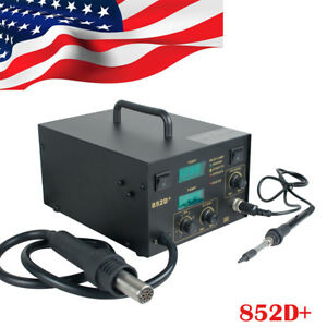 Portable Smd Hot Air Gun Soldering Rework Station Welding Solder Machine 852d