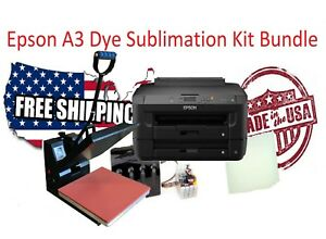 Epson A3 Dye Sublimation Printer T shirt Kit Bundle 13 x19 Sheets Dye Ink