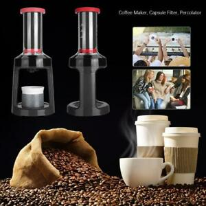 K-cup Manual Coffee Maker Capsule Filter Pot Espresso Hand Press Percolator Tool $37.90