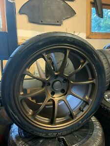 Rays Engineering Ze40 Wheels tires Bronze Nissan R34 Gtr Fitment