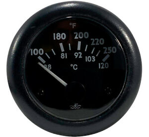 Water Temperature Gauge 100 250 F Or 38 120 C 24 Volts Thunder Parts