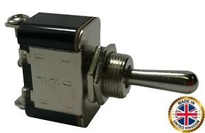 2 Heavy Duty Momentary On Off Mom On Metal Toggle Switch 25 Amp 12v Uk