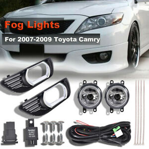 For 2007 2008 2009 Toyota Camry Bottom Clear Fog Lights Switch Upgrade Pair Ag