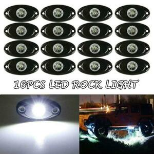 16x 9w Cree Led Rock White Car Trail Fender Under Glow Lamp Boat Deck Rig Light