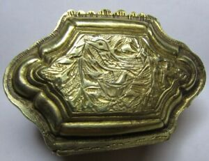 18th C Mughal Silver Gilt Double Ended Betel Nut Box Paan Daan Box Rare Antique