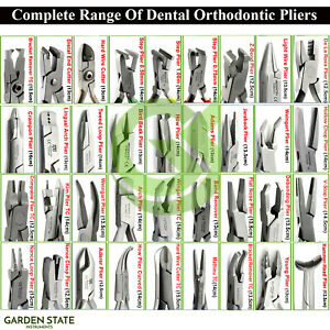 Range Of Dental Pliers Orthodontic Detailing Plier Braces Archwire Bending Plier