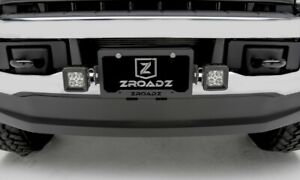 Z310005 kit License Plate Frame Bracket Led Mounts W 2 3 In Cube Lights Zroadz