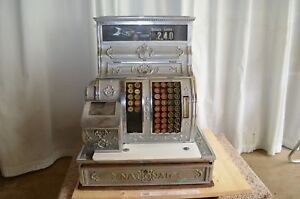 1912 Antique National Cash Register Nickel Plated Over Red Brass Model 1064 G