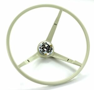 Mustang Steering Wheel Standard Colored 1965 1966 White