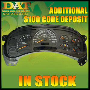 03 05 Chevy Gm Truck Cluster Choice Of Led Upgrade 78k Miles Exchange