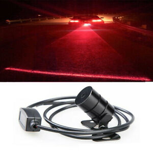 Universal Rear Laser Led Fog Light Anti Collision Warning Lamp Brake Tailight