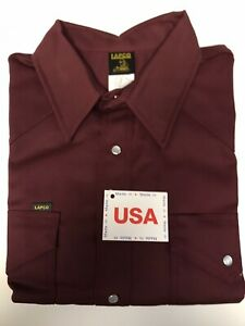 Lapco Wine 8 5oz Non Fr Welding Shirt 18x35 Made In Usa