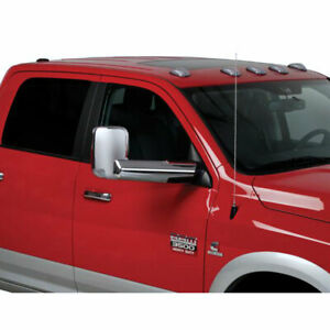 Chrome Abs Mirror Bracket Covers For 2010 2018 Dodge Ram 1500 W towing Mirrors