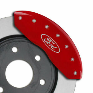 Mgp Caliper Covers Set Of 4 Engraving For 2010 2014 Ford Mustang Red