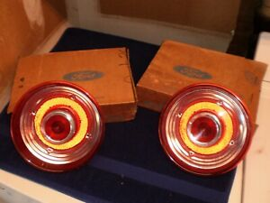 62 63 Nos Thunderbird Taillight Lens Tail Light Pair Rear Lamps T bird 1962 1963