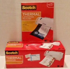 3m Scotch Thermal Laminator Laminating Machine Tl902 With 50 Thermal Pouches