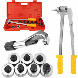 7lever Hydraulic Tubing Expander Tool Hvac Tool Swaging Tube Piping Pipe Kit New
