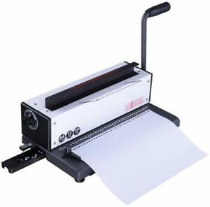 34hole Punching Binding Machine All Steel Metal Spiral Coil Paper Binder Puncher