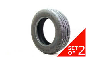Set Of 2 Used 235 65r18 Michelin Latitude Tour Hp 104h 6 5 7 32