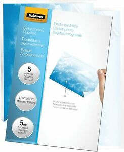 Fellowes Laminating Pouches 5mm 4 1 4x6 1 4 5220401