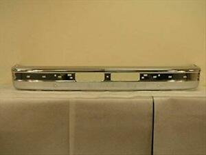 New Chrome Front Bumper With Pad Holes 1989 1992 Ford Ranger 1989 1990 Bronco Ii
