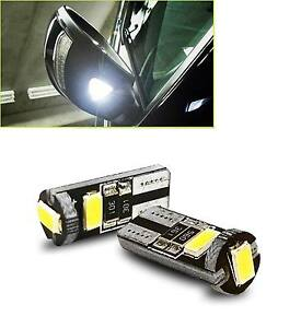 Two White 168 5630 3 Smd T10 Led Bulbs For Under Mirror Puddle Lights