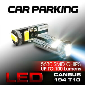 Hid Matching White Smd T10 Led Bulbs For Car Parking Lights 168 194 2825 W5w