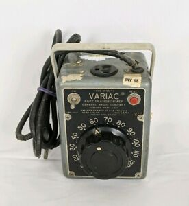 General Radio W5mt3 0 140 Volts 5 Amps Autotransformer Variac Tested Power