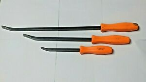 Snap On Tools Spb24a Spb12a Spb18a 3 Piece Orange Hard Handle Pry Bars Lot