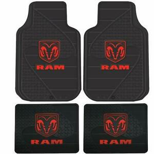 4 Pc Dodge Ram 1500 2500 3500 Front rear Rubber Floor Mats Free Fast Shipping