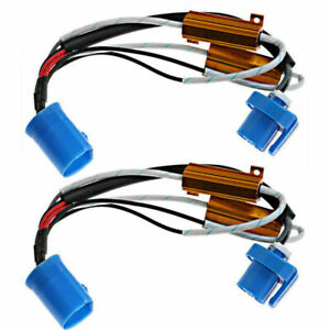 2pcs Led Headlight Load Resistor Wiring Harness Adapter For Chevrolet Ford 9007
