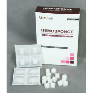 10 X Goodwill Hemosponge Hemostatic Gelatin Sponge 3 5 Days Delivery Dhl Exp