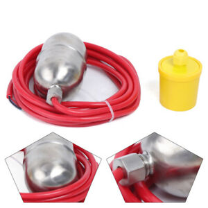 110v Stainless Float Switch High Temperature Water Level Controller 4 Meter Line