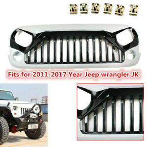 White Fit 2 4door Jeep Wrangler Jk 2007 2018 Front Gladiator Grille Grid Grill