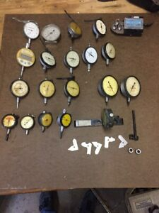1 Lot Of Assorted Dial Indicators And Inspection Equipment