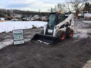 2015 Bobcat A770 Skid Steer Loader W Cab 2 Speed Only 2100 Hours