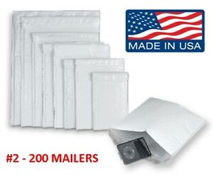 200 2 8 5x12 Poly Bubble Mailers Padded Envelopes Shipping Case Free Ship