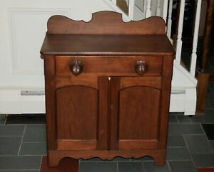 Antique Washstand Cabinet Pennsylvania Dutch Style