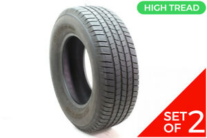 Set Of 2 Used 265 70r17 Michelin Defender Ltx M S 115t 8 9 32