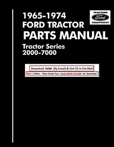 1965 1974 Ford Tractor Parts Catalog 2000 3000 4000 5000 7000 Cd