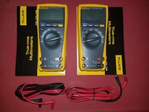 Two Fluke 177 True Rms Digital Multimeter