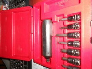 Snap On Tools 7pc Impact Driver Set Pit120 Like New