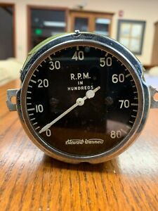 Vintage Stewart Warner Tachometer 8000 Rpm Gauge Scta Vintage Hot Rod Dash Panel